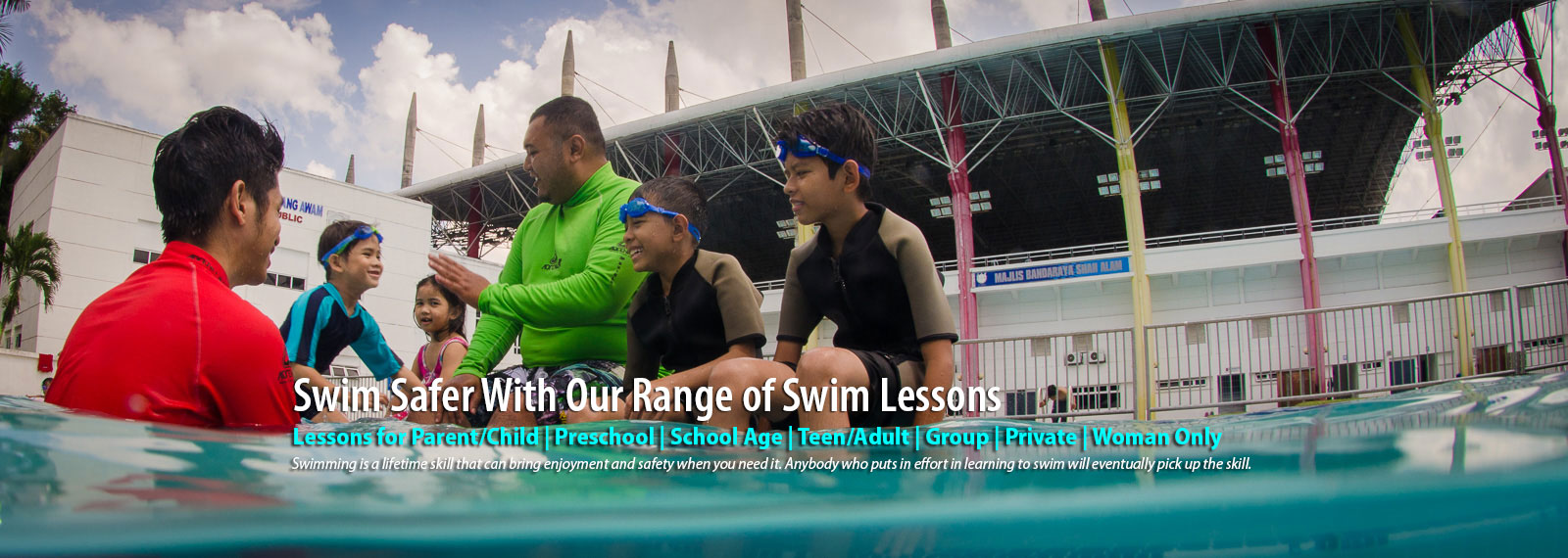 Swim safer with our range of swim lessons