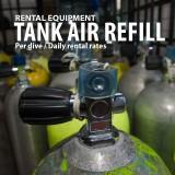 Scuba tank air refill
