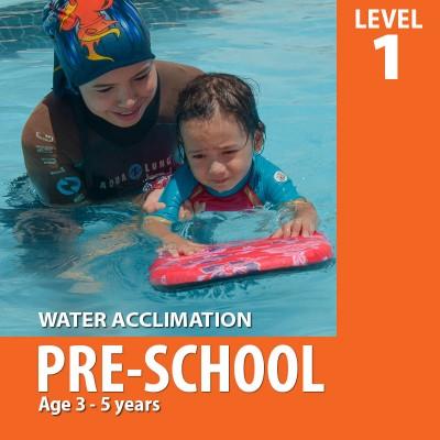 Pre-School Kids Swim Lesson (Level 1)