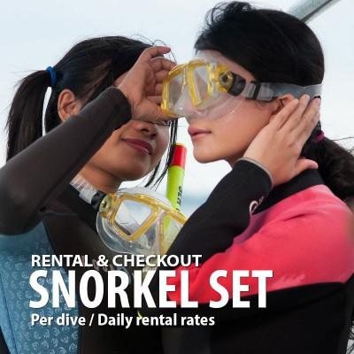 Snorkeling set rental
