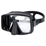 Aropec Obsidian Single Lens Frameless Mask - Black/Black