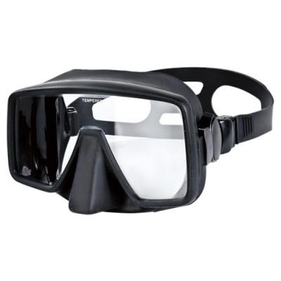 Aropec Obsidian Single Lens Frameless Mask - Black/Black