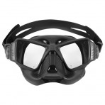 Aropec Sniper Dual Lens Low Volume Mask - Black/Black