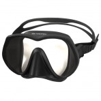 Aropec Basalt Single Lens Frameless Mask - Black/Black