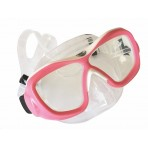 Poseidon Mask 3D - White/Pink, Clear Silicon