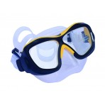 Poseidon Mask 3D - Black/Yellow, Clear Silicon