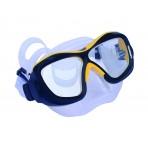 Poseidon Mask 3D - Black/Yellow, Clear Silicon