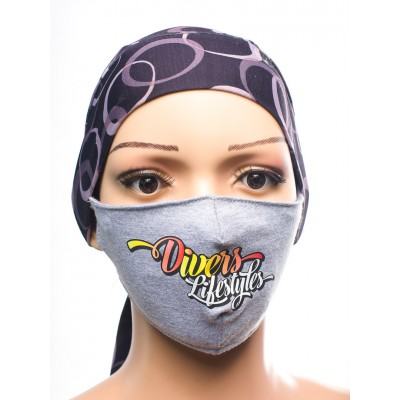 PRINTED COTTON FACE MASK-DIVERS LIFESTYLE 2