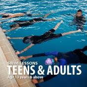 Teens & Adults Swim Lessons